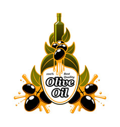 Olive oil olives extra virgin product icon vector