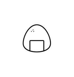 onigiri food icon vector image