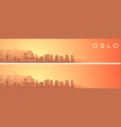 oslo beautiful skyline scenery banner vector image