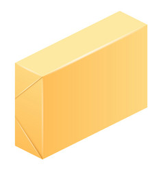 Pack of butter icon realistic style vector