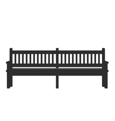 park icon bench vector image