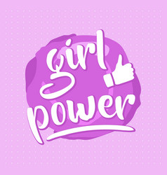 pink girl power poster vector image