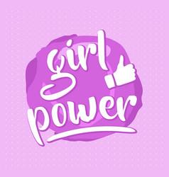 Pink girl power poster vector