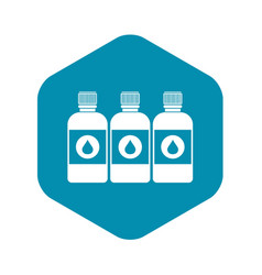 Printer ink bottles icon simple style vector