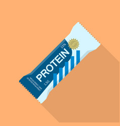 Protein bar icon flat style vector