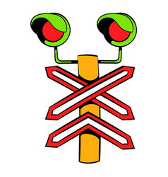 rail crossing signal icon icon cartoon vector image