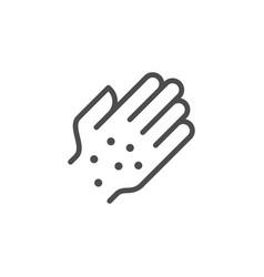 rash line icon vector image