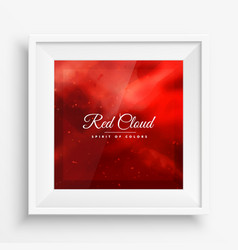 red cloud colors frame vector image