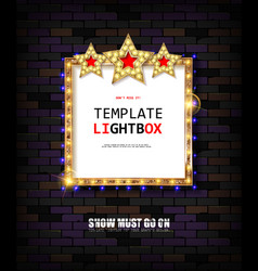 retro banner with bulbs for your projects vector image