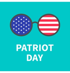 Round glasses Patriot day Flat vector