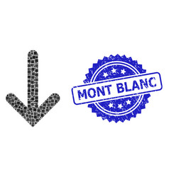Scratched mont blanc seal and square dot down vector