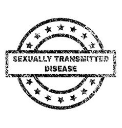 Scratched textured sexually transmitted disease vector