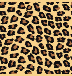 Seamless pattern with leopard skin vector