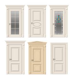 Set of classic doors vector