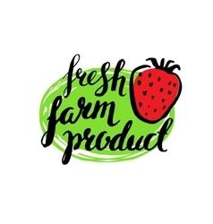 Set of vintage retro farm logo vector image