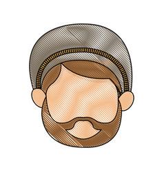 Shepherd face manger character image vector