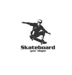 skateboard logo vector image