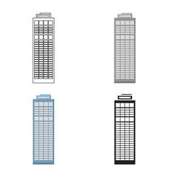 skyscraper icon cartoon single building icon from vector image vector image