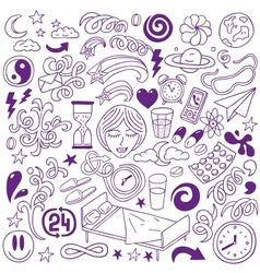 Sleep doodles vector