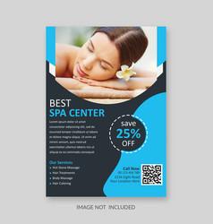 Spa flyer template vector
