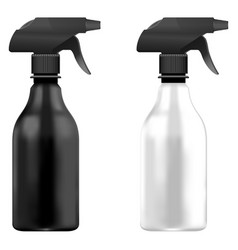 Spray pistol cleaner plastic bottle white and blac vector