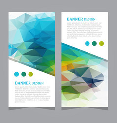 stock set of polygonal triangular banners vector image