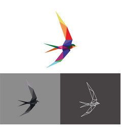 swallow low poly vector image