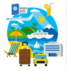 Travel and resort vector