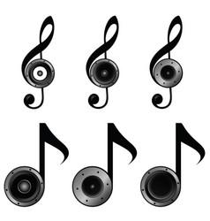 Violin key set music sound vector