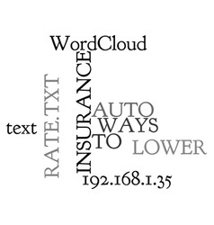 ways to lower auto insurance rate text word cloud vector image