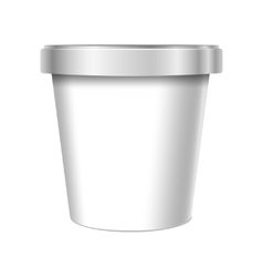 White Food Plastic Tub Bucket Container vector