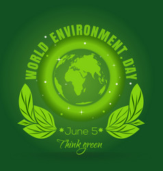 World environment day concept design 5 june vector