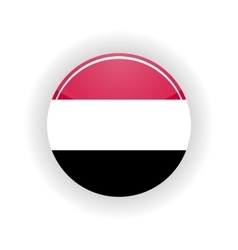 Yemen icon circle vector image