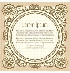 Decorative frame on vintage background vector image