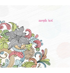 doodles background vector image vector image