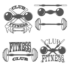 fitness club logos and pictures vector image