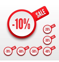 Sale percents vector image vector image