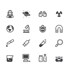 science element black icon set on white background vector image