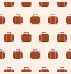 seamless pattern with cute suitcases vector image vector image