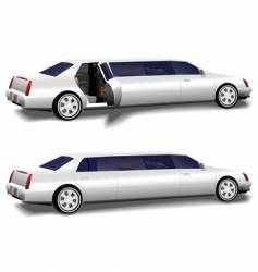 white limousine set vector image vector image