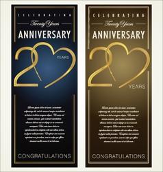 20 years Anniversary banner vector image