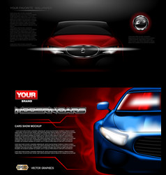 digital red modern sport car mockup vector image vector image