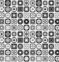 Geometrical shapes background in black and white vector image