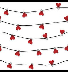 Heart seamless love light bulb wedding vector image vector image