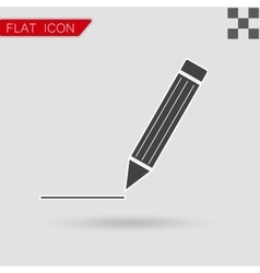 Pen Icon Flat Style with red vector image vector image