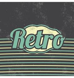 Retro Template Design Vintage Background vector image