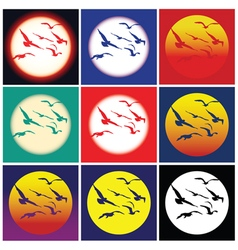 Birds in the sun vector image vector image