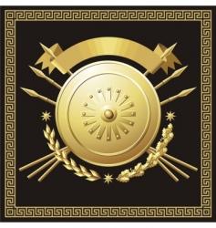 gold buckler vector image vector image