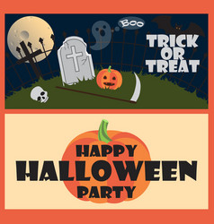 trick or treat happy halloween party wish vector image