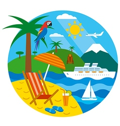 tropical travel vector image vector image